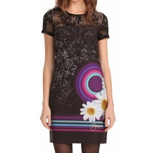 Desigual Galactic Short Sleeve Shift Dress